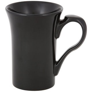 Flair Rim Black Mug (Set of 4)
