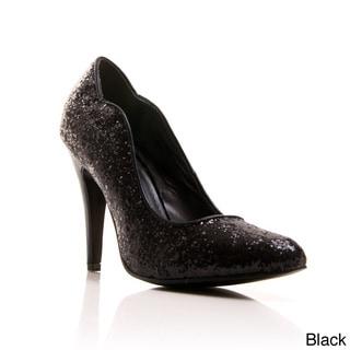 Gomax Women's 'Ashland-15X' Glittery Almond Toe Pumps