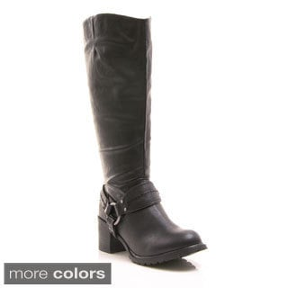 Gomax Women's 'Barn Yard 03' Block Heel Riding Boots