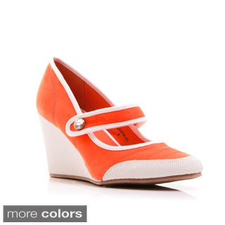Gomax Women's Atlanta-02 Mary Jane Wedge Heels