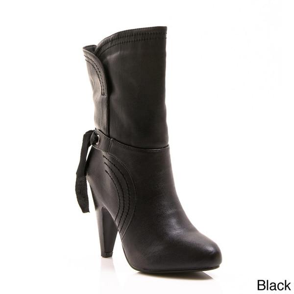Gomax Women's 'Blockbuster 10' Mid-calf Cone Heel Booties
