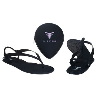 Flipsters Black Foldable Flip-flop Sandals