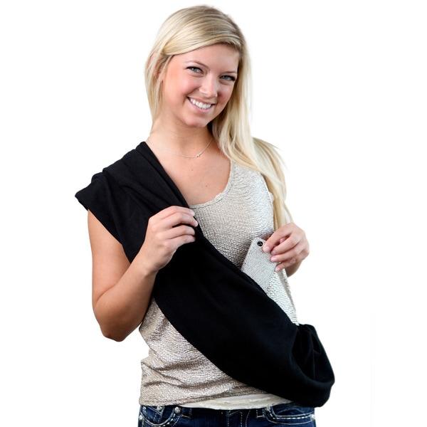 SHOLDIT Black Clutch Wrap Purse