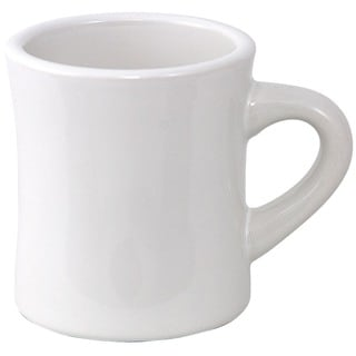 White Diner Mug (Set of 4)