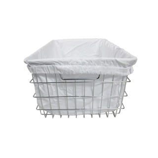TRINITY EcoStorage Chrome Wire Basket with Cover
