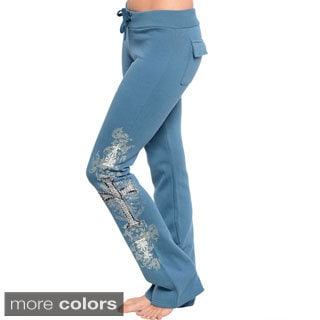 Stanzino Women's Drawstring Printed Lounge Pants