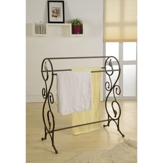 K&B Antique Finish Pewter Standing Towel Rack