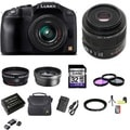Panasonic Lumix DMC-G6 Camera 14-42mm II and 45mm Lenses 32GB Bundle