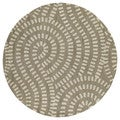 Zoe Light Brown Hand Tufted Wool Rug (7'9x7'9 round)