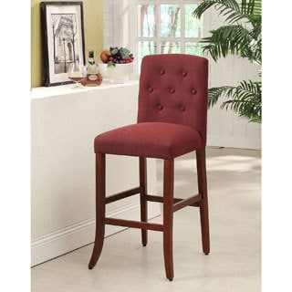 Solid Wood Tufted Parson Barstool