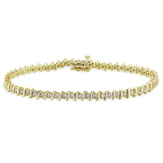 Miadora 14k Yellow Gold 3 1/10ct TDW Diamond Bracelet (J-K, I2-I3)