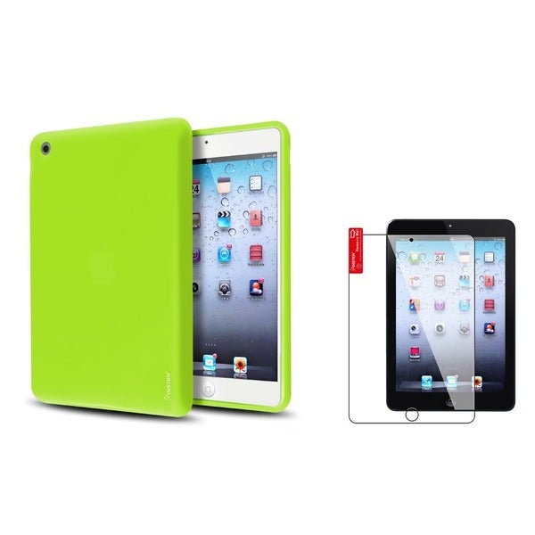 INSTEN Green Tablet Case Cover/ Screen Protector for Apple iPad Mini 1/ 2 Retina Display