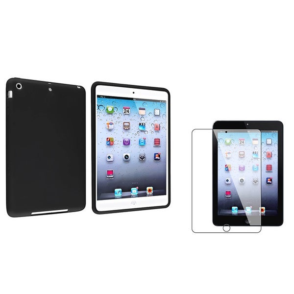 INSTEN Black Tablet Case Cover/ Screen Protector for Apple iPad Mini 1/ 2 Retina Display
