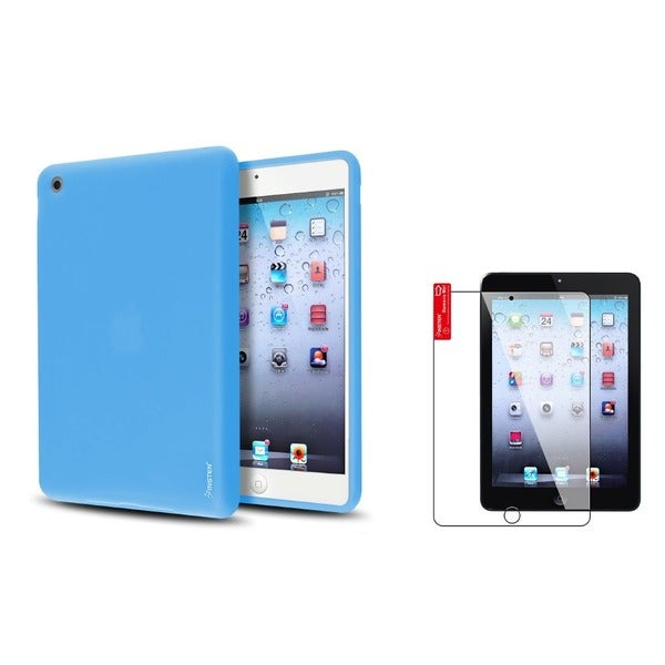 INSTEN Sky Blue Tablet Case Cover/ Screen Protector for Apple iPad Mini 1/ 2 Retina Display