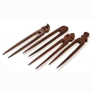 Handmade Wooden Hair Pins (set of 4) (India)