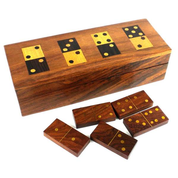 Handmade Wooden Domino Set (India)