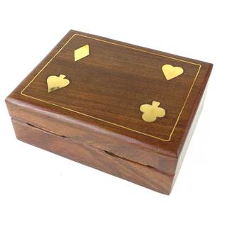 Handmade Reclaimed Wooden Playing Card Box (India)