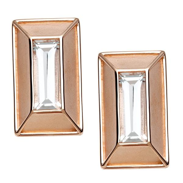 18k Gold Overlaid Crystal Stud Earrings