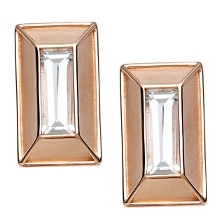18k Gold Overlaid Crystal Stud Earrings