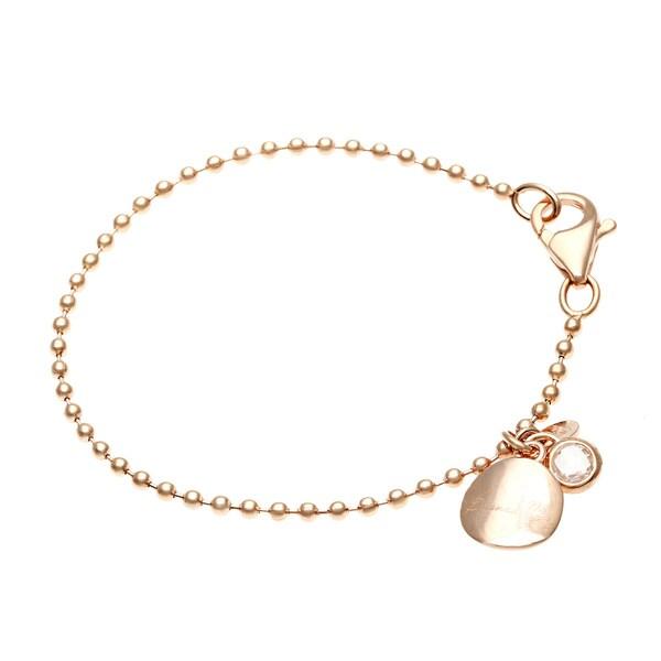 18k Gold Overlay Crystal Stone Bracelet