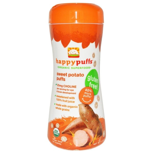 Happy Puffs Finger Foods Sweet Potato Puffs (Pack of 12)