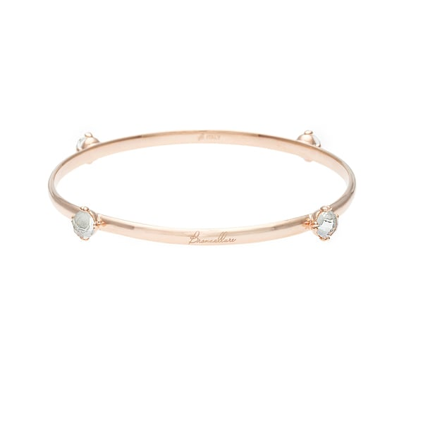 18k Gold Overlay Clear Crystal Bangle Bracelet