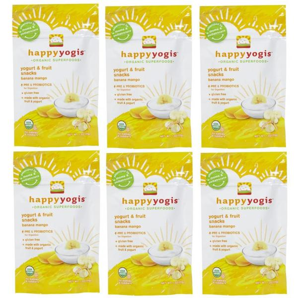 Happy Yogis 1-ounce Banana Mango (Pack of 6)