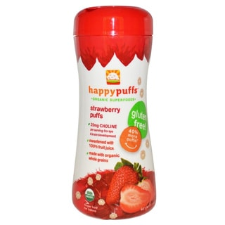 Happy Puffs Finger Foods 2.1-ounce Strawberry (Pack of 12)