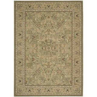 kathy ireland Home Lumiere Sage Wool Rug (5'3 x 7'5)