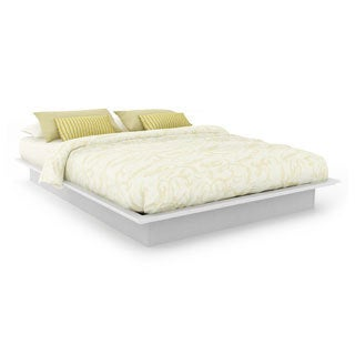 Sonax MDF Double/Queen Frost White Plateau Platform Bed