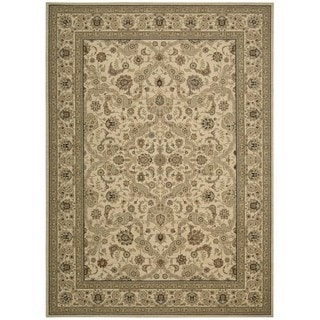 kathy ireland Home Lumiere Beige Wool Rug (9'6 x 13')