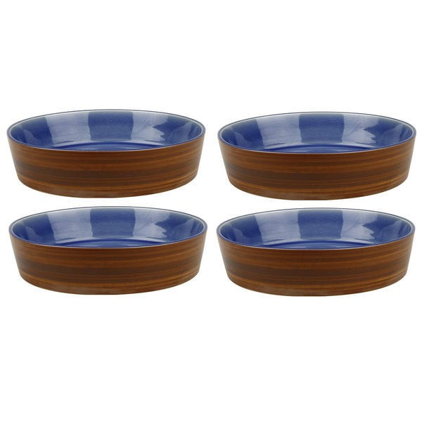 Waechtersbach Pure Nature Blue Soup Plates/ Lids (Set of 4)