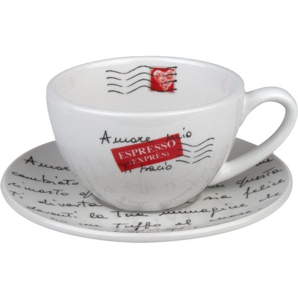 Konitz Amore Mio Multi-Color 8-piece Cappuccino Cup and Saucer Set 12027896