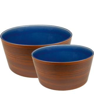 Waechtersbach Pure Nature Blue Small and Medium Serving Bowls (Set of 2)