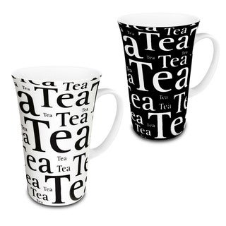 Konitz Assorted Black/ White Tea Mega Mugs (Set of 4)
