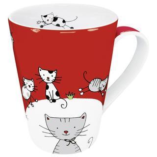 Konitz Globetrotter Cats Mugs (Set of 4)