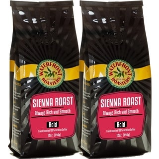Waterfront Roasters Sienna Roast Ground Coffee (Set of 2 12-oz Bags)