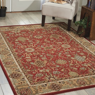 kathy ireland Home Lumiere Small Brick Rug (5'3 x 7'5)
