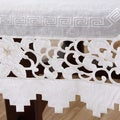 White Embroidered Cutwork Square 72-inch Tablecloth