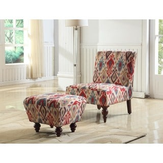 Deluxe Accent Chair/ Ottoman