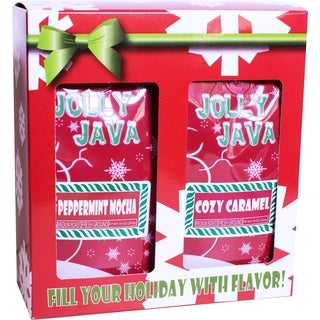 Waterfront Roasters Jolly Java Ground Coffee Gift Box (Set of Two 10-oz Bags)