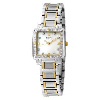 Bulova Women's Two-tone Steel Diamond Accent Watch
