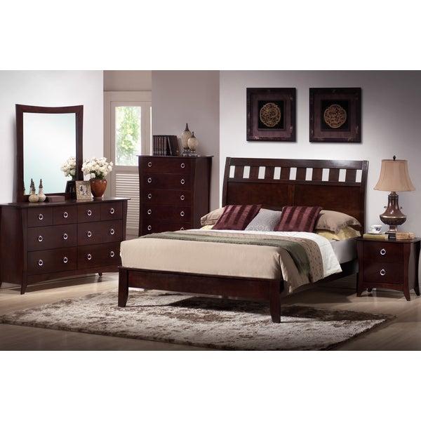 furniture of america stoneward dark grey 4 piece bedroom set