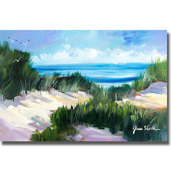 Jane Slivka 'Dune Shoreside' Canvas Art