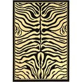 Paterson Zebra Animal Print Black Area Rug (5' x 7')