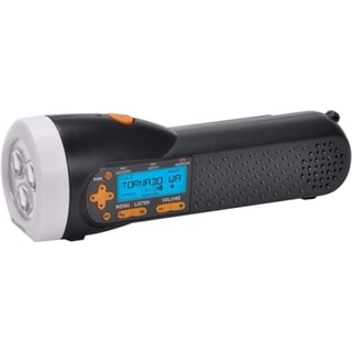 AcuRite Emergency Weather Alert NOAA Radio / Flashlight with Hand Cra