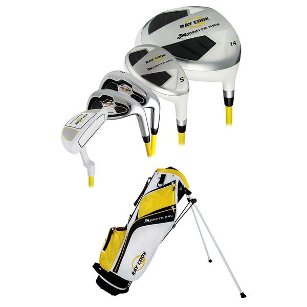Ray Cook Manta Ray Junior Golf Club Set with Bag Ages 6-8