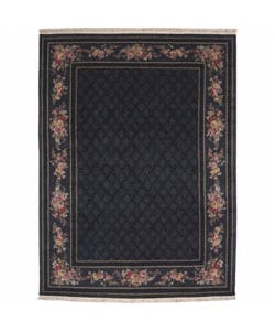 Nourison Hand-knotted Legacy Foulard Black Wool Rug (8'6 x 11'6)