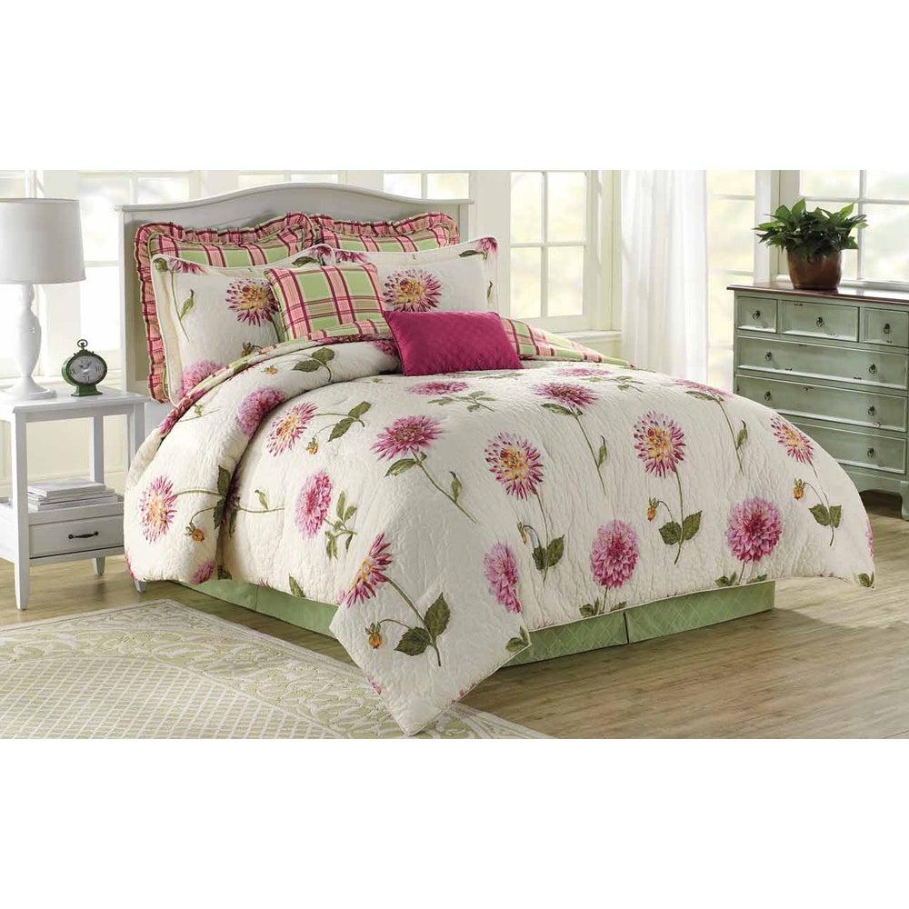 Overstock.com Soho New York Home Pink Dahlia 8-piece Cotton Comforter Set