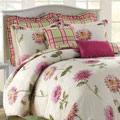 Soho New York Home Pink Dahlia 8-piece Cotton Comforter Set